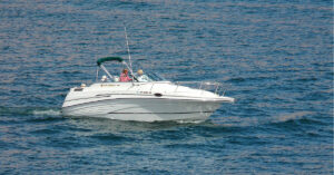Picture of a boat on the water for KC Law blog on boating accidents.